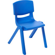 "ECR4Kids® 12"" Polypropylene Resin Chair - Blue - Pkg Qty 6"