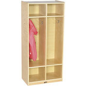 "ECR4Kids® 2 Section Straight Coat Locker, 19-1/2""W x 13""D x 48""H"