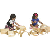 ECR4Kids® Wooden Tunnels and Arches Blocks - 10 Pc. Set