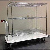 "Electro Kinetic Technologies Motorized Stock Cart MCS-1772-304815-54 - 1500 Lb. Cap. - 48""x30""x54"""