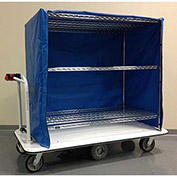 "Electro Kinetic Technologies Motorized Linen Cart MCSC-1772-246015-54 - 1500 Lb. Cap. - 60""x24""x54"""