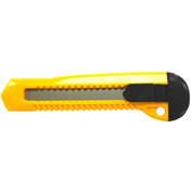 Retractable Standard Duty Snap-Off Knife W/ Plastic Handle And Built-In Blade Breaker