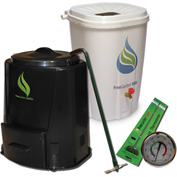 Enviro World EARTH Package Rain Barrel, Compost Bin, Thermometer, and Turner -EWC-201