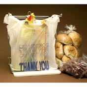 "Thank You T-Shirt Bag WithSuffocation Warning 22""L x 12""W 7""D White 1,000 Pack"