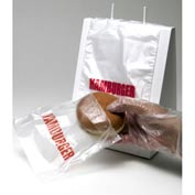 Saddle Pack Printed Hamburger Bag 7 x 6.5 0.5 Mil, Pkg Qty 2,000