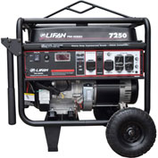 Lifan Power LF7250, 6500 Watt, Pro Series Portable Generator, Gasoline, Recoil Start