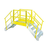 "Equipto 1530B06 Cross Over Bridge, 35"" Overall Width, 6 Stairs"
