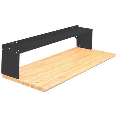 Equipto® Aerial Shelf For Bench 226-30-BK, Black
