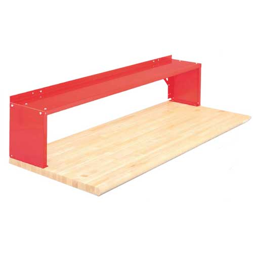 Equipto® Aerial Shelf For Bench 226-30-RD, Cherry Red