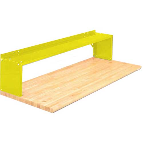 Equipto® Aerial Shelf For Bench 226-48-YL, Safety Yellow