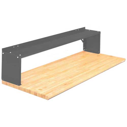 Equipto® Aerial Shelf For Bench 226-72-GY, Office Gray