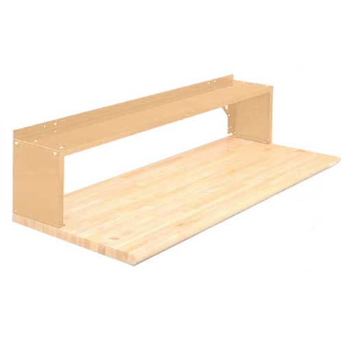 Equipto® Aerial Shelf For Bench 226-72-PY, Putty