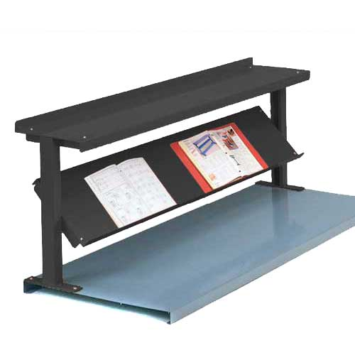 "Equipto® Production Booster 452T48-BK, 48""W X 24""H, 2 Shelves, Black"