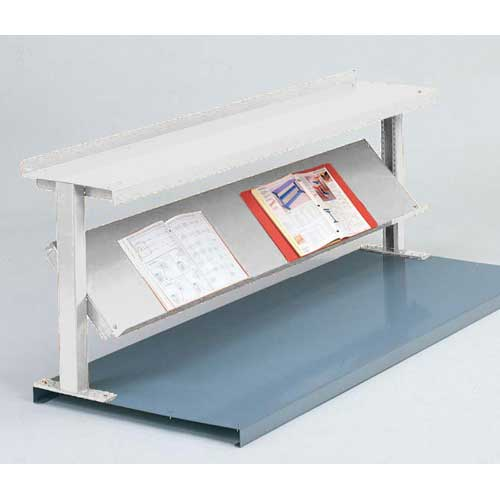 "Equipto® Production Booster 452T48-WH, 48""W X 24""H, 2 Shelves, Reflective White"