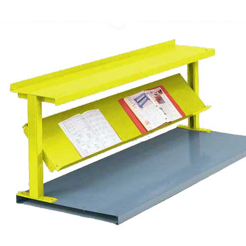 "Equipto® Production Booster 452T48-YL, 48""W X 24""H, 2 Shelves, Safety Yellow"