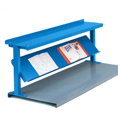 "Equipto® Production Booster 452T60-BL, 60""W X 24""H, 2 Shelves, Regal Blue"