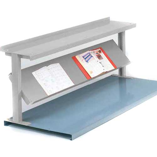 "Equipto® Production Booster 452T60-LG, 60""W X 24""H, 2 Shelves, Dove Gray"