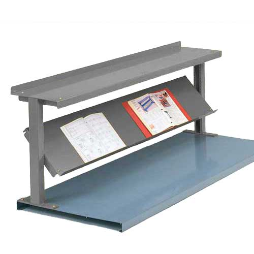 "Equipto® Production Booster 452T72-GY, 72""W X 24""H, 2 Shelves, Office Gray"