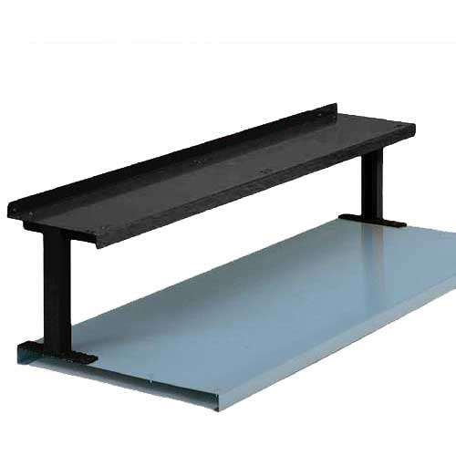 "Equipto® Production Booster 454T48-BK, 48""W X 14""H, 1 Shelf, Black"