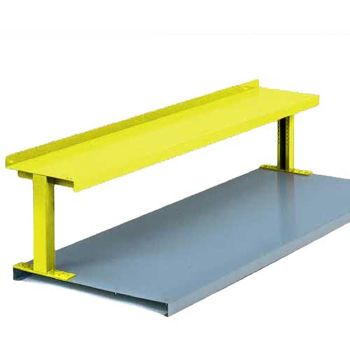 "Equipto® Production Booster 454T48-YL, 48""W X 14""H, 1 Shelf, Safety Yellow"