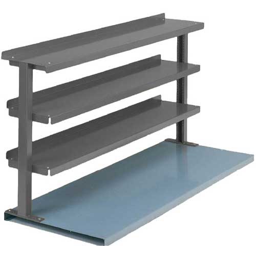 "Equipto® Production Booster 463T48-GY, 48""W X 36""H, 3 Shelves, Office Gray"