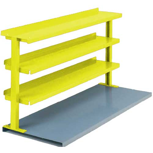 "Equipto® Production Booster 463T48-YL, 48""W X 36""H, 3 Shelves, Safety Yellow"