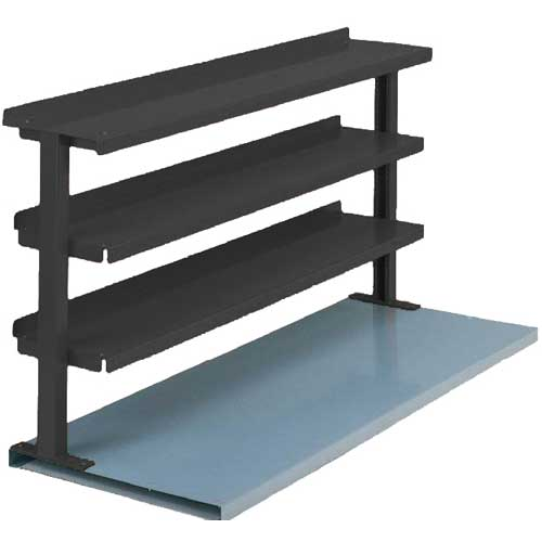 "Equipto® Production Booster 463T60-BK, 60""W X 36""H, 3 Shelves, Black"