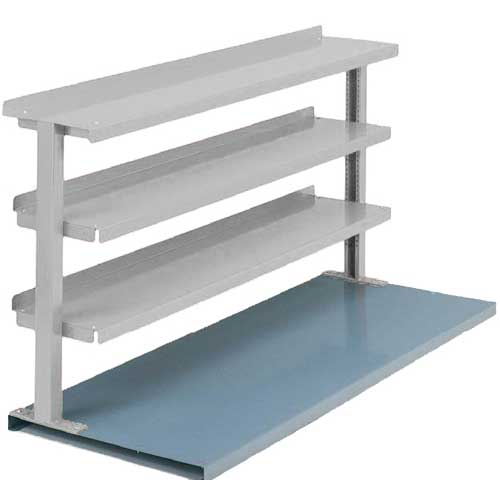"Equipto® Production Booster 463T60-LG, 60""W X 36""H, 3 Shelves, Dove Gray"