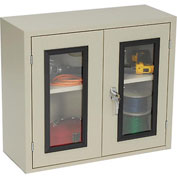 Equipto Quick View Cabinet 30 x 12 x 26, Assembled - Textured Putty