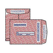 Personal & Confidential Envelopes, Red & Blue Imprint Flags, 10x13, 100/Box
