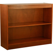 "Wood Veneer Bookcase, 1 Adjustable Shelf, Cherry Finish, 36""W x 30""H"
