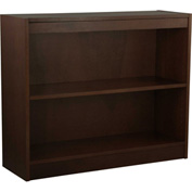 "Wood Veneer Bookcase, 1 Adjustable Shelf, Espresso Finish, 36""W x 30""H"