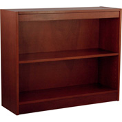 "Wood Veneer Bookcase, 1 Adjustable Shelf, Mahogany Finish, 36""W x 30""H"