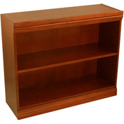 "Traditional Wood Veneer Bookcase, 1 Adjustable Shelf, Cherry Finish, 36""W x 30""H"