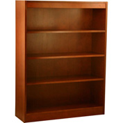 "Wood Veneer Bookcase, 3 Adjustable Shelves, Cherry Finish, 36""W x 48""H"