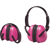 ERB™ 14242 Lightweight Folding Earmuffs, NRR 23 dB, Pink - Pkg Qty 12