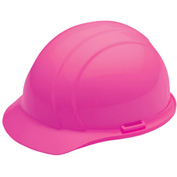 ERB™ 19369 Americana Hard Hat, 4-Point Ratchet Suspension, Hi-Viz Pink - Pkg Qty 12