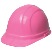 ERB™ 19989 Omega II Hard Hat, 6-Point Ratchet Suspension, Hi-Viz Pink - Pkg Qty 12