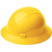ERB™ 20005, Americana 360 Hard Hat, 4-Point Ratchet Suspension Yellow - Pkg Qty 12