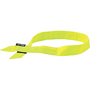 Ergodyne® Chill-Its® 6705 Evaporative Cooling Bandana, Hook & Loop, Lime - Pkg Qty 24