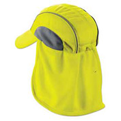 Ergodyne® Chill-Its® 6650 High Performance Hat W/ Neck Shade, Lime, One Size - Pkg Qty 6