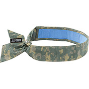 Ergodyne® Chill-Its® 6705CT Evap. Cooling Bandana w/ Built-In Cooling Towel, Tie, Camo - Pkg Qty 6