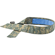 Ergodyne® Chill-Its® 6705CT Evap. Cooling Bandana w/ Built-In Cooling Towel, H & L, Camo - Pkg Qty 6