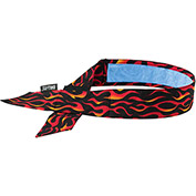 Ergodyne® Chill-Its® 6705CT Evap. Cooling Bandana w/ Built-In Cooling Towel, Flames - Pkg Qty 6