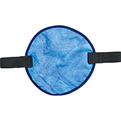 Ergodyne® Chill-Its® 6715CT Evap. Cooling Hard Hat Pad w/ Built-In Cooling Towel, Blue - Pkg Qty 6