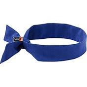Ergodyne® Chill-Its® 6700FR Evaporative FR Cooling Bandana, Tie, Blue - Pkg Qty 6