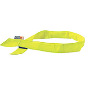 Ergodyne® Chill-Its® 6705FR Evaporative FR Cooling Bandana, Hook & Loop, Lime - Pkg Qty 6