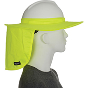Ergodyne® Chill-Its® 6660 Hard Hat Brim with Shade, Lime, One Size - Pkg Qty 6