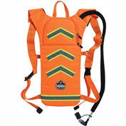 Ergodyne® Chill-Its® 5155HV Hi-Vis Low Profile Hydration Pack, Orange, 2 Liter