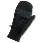 Ergodyne® ProFlex® 816 Thermal Flip-Top Gloves, Black, Medium
